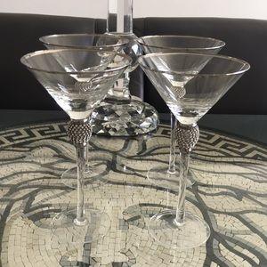Set of 4 Fabulous Glitz Martini 🍸 Glasses
